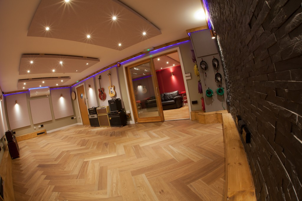 the live rooms at the silk mill recording studio
